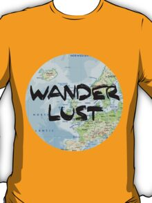 Wanderlust! Rounded Europe Map T-Shirt