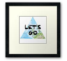 Let's Go! Triangular Europe Map Framed Print