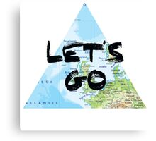 Let's Go! Triangular Europe Map Canvas Print