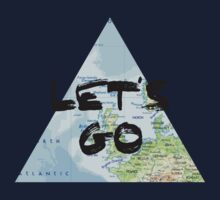 Let's Go! Triangular Europe Map Kids Tee