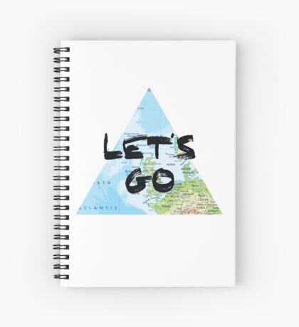 Let's Go! Triangular Europe Map Spiral Notebook