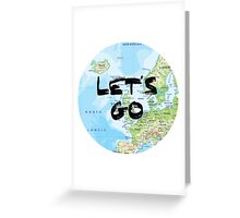 Let's Go! Rounded Europe Map Greeting Card