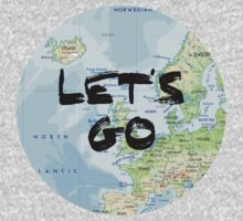 Let's Go! Rounded Europe Map Kids Clothes
