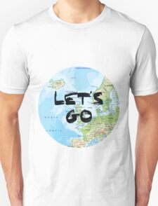 Let's Go! Rounded Europe Map T-Shirt