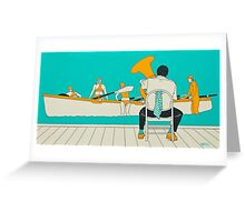 On The Beach - Yellow Shoes Greeting Card