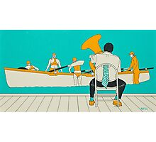 On The Beach - Yellow Shoes Photographic Print