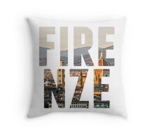 Firenze typography Throw Pillow