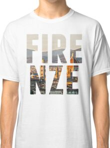 Firenze typography Classic T-Shirt