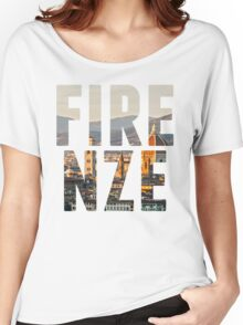 Firenze typography Women's Relaxed Fit T-Shirt