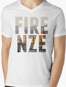 Firenze typography Mens V-Neck T-Shirt