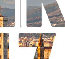 Firenze typography Sticker