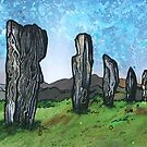 The Callanish Stones.2, Calanais, Isle Of Lewis, Outer Hebrides, Scotland. by Andrew Peutherer