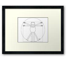 Vitruvian Frog Framed Print