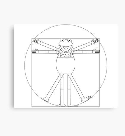 Vitruvian Frog Canvas Print