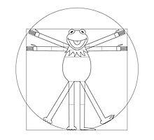 Vitruvian Frog Photographic Print