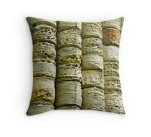 Eroded stone columns Throw Pillow