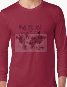 Wanderlust Tipography Long Sleeve T-Shirt