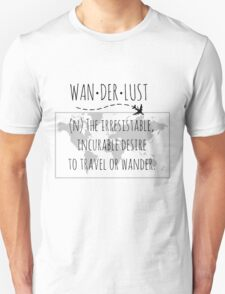 Wanderlust Tipography T-Shirt