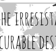 Wanderlust Tipography Sticker