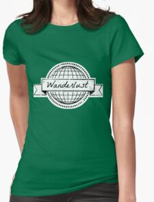 wanderlust postcard Womens Fitted T-Shirt