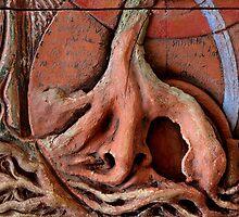Sense Door - Root (detail of Lotus VII) by Mona Shiber