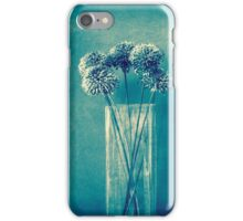 Monochrome flowers and vase iPhone Case/Skin