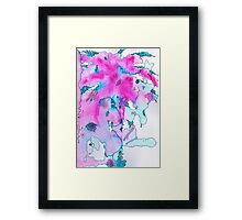 Watercolor Brushes Framed Print