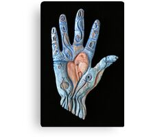 Hand Heart Canvas Print