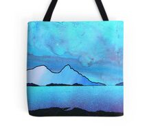 The Isle of Rum and Eigg from Sanna Bay, Scottish western Isles. Tote Bag