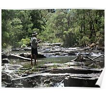 Fly fisherman, Nannup, Western Australia Poster