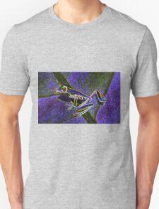 Pixel Art Neon Tree Frog Unisex T-Shirt