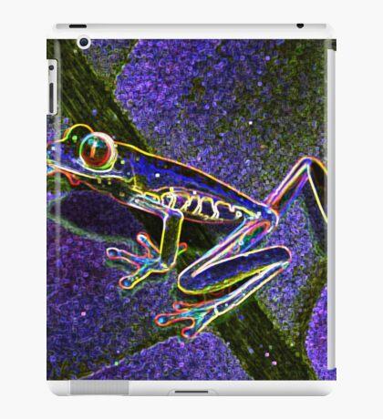 Pixel Art Neon Tree Frog iPad Case/Skin