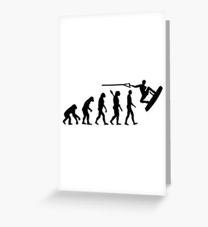 Evolution Wakeboarding Greeting Card