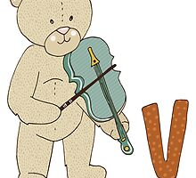 Violin Bear by GiftIdea