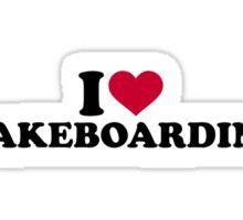 I love Wakeboarding Sticker