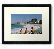 Breakfast at beach Framed Print