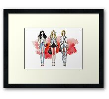 Fashion Trendy Girls Framed Print