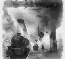 British Railways during WWII by John Spirngfield by esotericaart