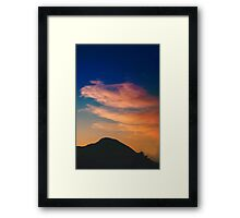 Spanish clouds at sunset Framed Print