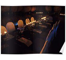 Dinner amonst the barrels Poster