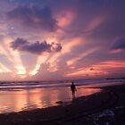 Sunset at Pangandaran by Ashlee Betteridge