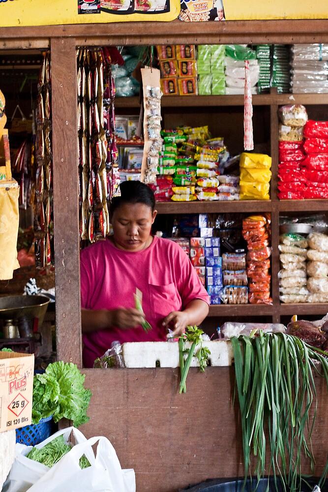 Vegetable Seller at Ubud Market, Bali by Ashlee Betteridge