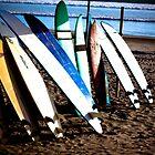 Surfboards at Legian Beach, Bali by Ashlee Betteridge