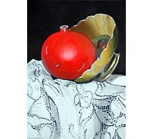 Pomegranate and pot Photographic Print