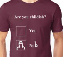 Are you childish (white)  T-Shirt