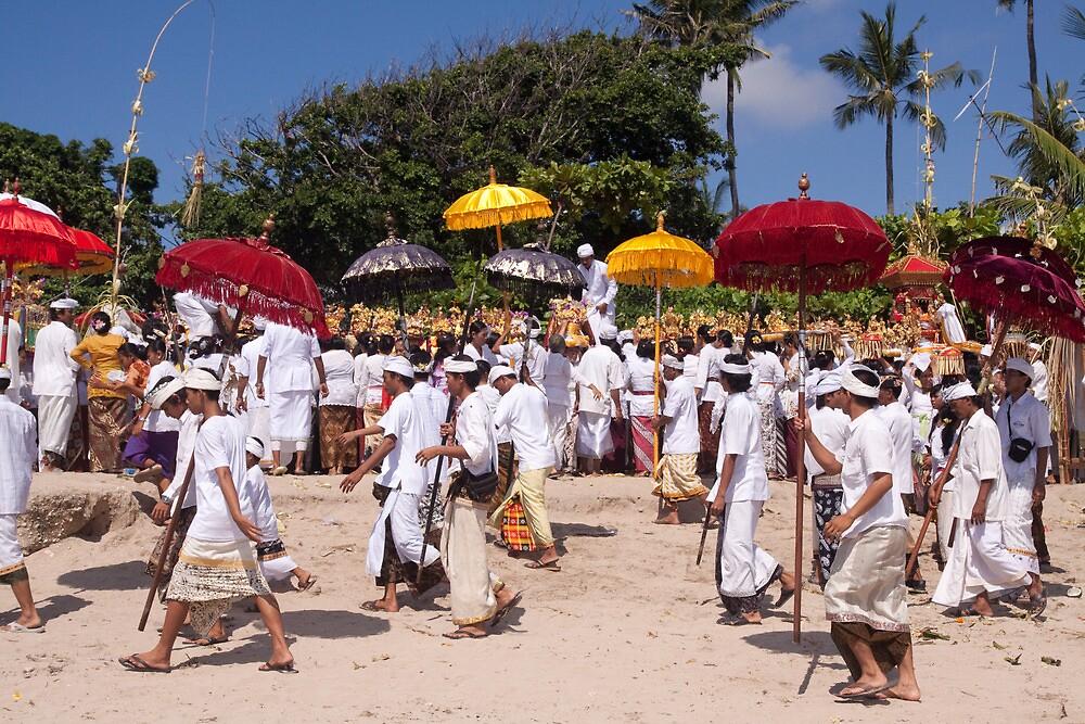 Melasti Procession, Sanur Beach, Bali by Ashlee Betteridge