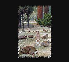 Painting of european rabbits Unisex T-Shirt