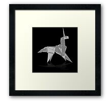 Origami Unicorn Framed Print
