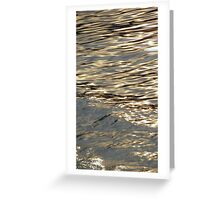 Golden Water Greeting Card