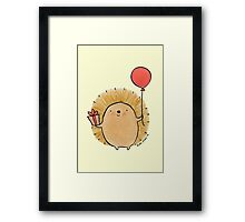 Happy Birthday Hedgehog Framed Print